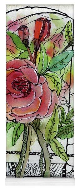 Rose Is Rose Yoga Mat