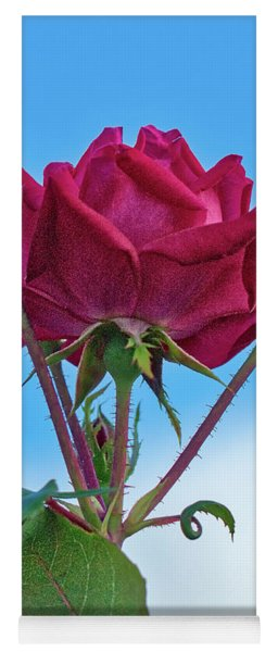 Rose With Buds Yoga Mat