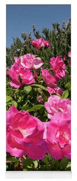Roses Up To The Sky Yoga Mat