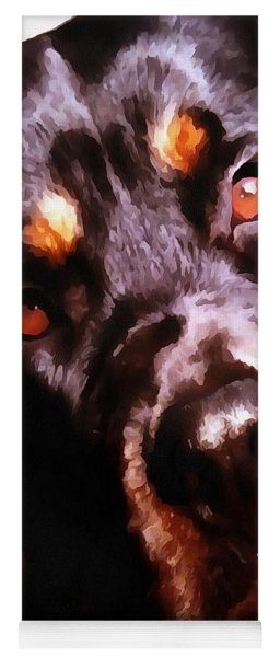 Rottweiler Artistic Pet Portait Yoga Mat