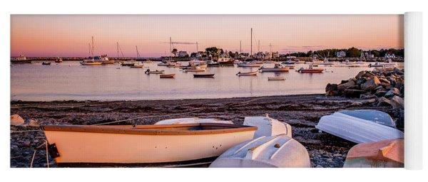 Rowboats At Rye Harbor, Sunset Yoga Mat