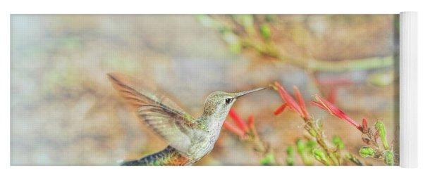 Rufous Hummingbird In The Arizona Garden Yoga Mat