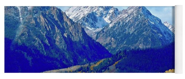 Yoga Mat featuring the photograph Rugged Peaks by Dan Miller