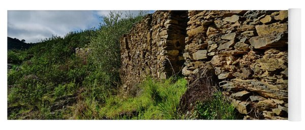 Ruins Of A Schist Cottage In Alentejo Yoga Mat