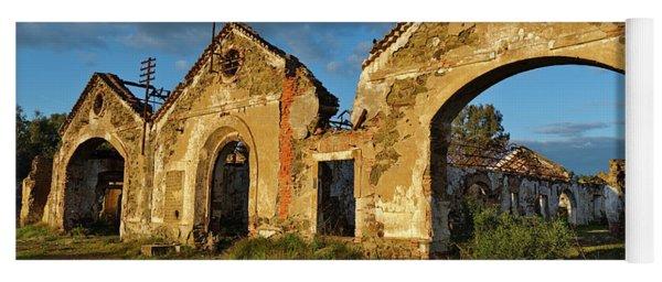 Ruins Of The Abandoned Mine Of Sao Domingos. Portugal Yoga Mat