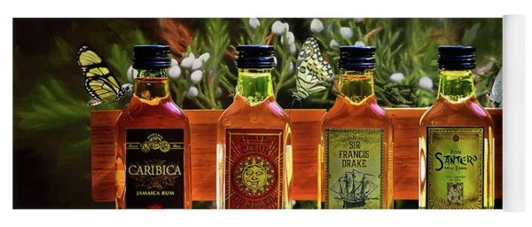 Yoga Mat featuring the photograph Rum Rum And More Rum by Ericamaxine Price