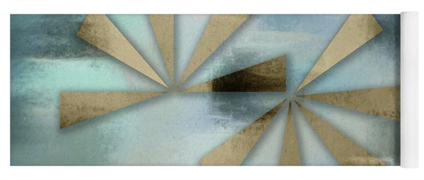 Rusted Triangles On Blue Grey Backdrop Yoga Mat