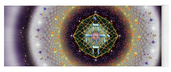 Yoga Mat featuring the digital art Sacred Geometry 729 by Endre Balogh