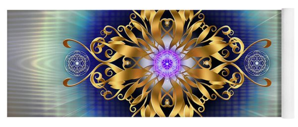 Yoga Mat featuring the digital art Sacred Geometry 730 by Endre Balogh