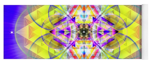 Yoga Mat featuring the digital art Sacred Geometry 731 by Endre Balogh