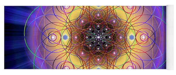 Yoga Mat featuring the digital art Sacred Geometry 732 by Endre Balogh