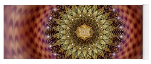Yoga Mat featuring the digital art Sacred Geometry 735 by Endre Balogh
