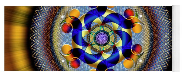 Sacred Geometry 740 Number 1 Yoga Mat