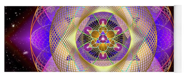 Sacred Geometry 741 Yoga Mat