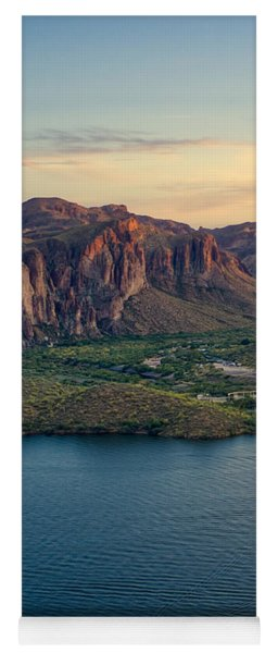 Saguaro Lake Mountain Sunset Yoga Mat
