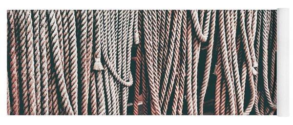 Sailboat Ropes And Deck Retro Yoga Mat