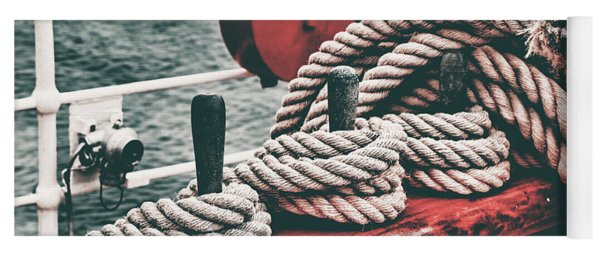 Sailboat Ropes Retro Yoga Mat