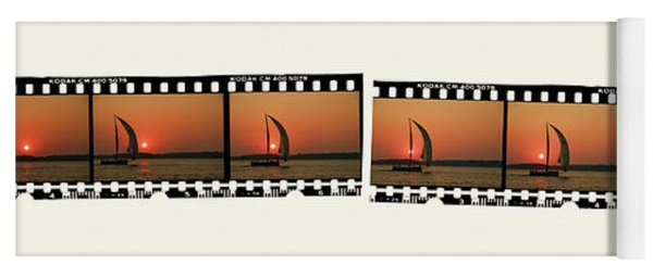 Sailing At Sunset On The Great Peconic Bay Yoga Mat