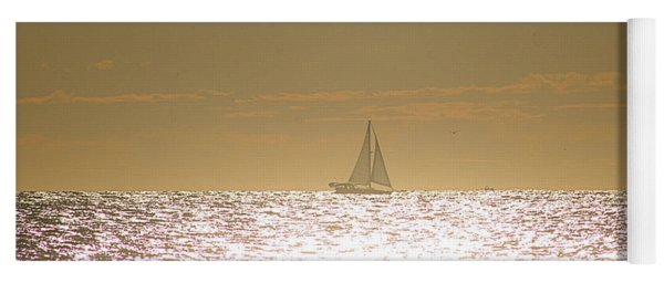 Yoga Mat featuring the photograph Sailing On Sunshine by Robert Banach