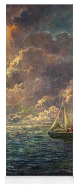 Sailing The Divine Light Yoga Mat