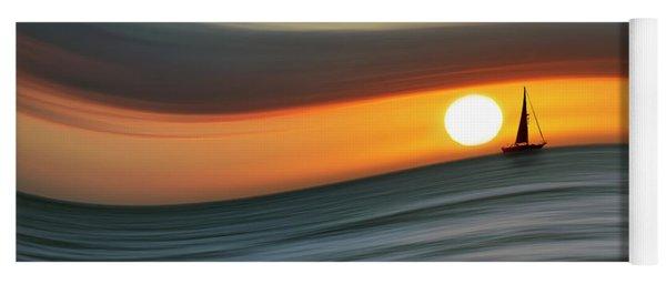 Sailing To The Sunset Yoga Mat