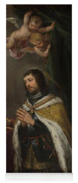 'saint Ferdinand, King Of Castille, Leon And Asturias'. Ca. 1672. Oil... Yoga Mat