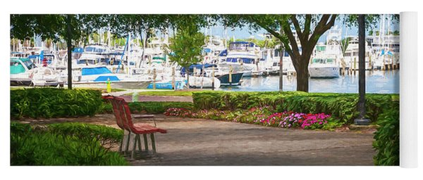 Saint Petersburg Florida Impression Yoga Mat