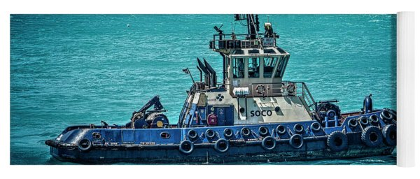Salvage Tug Boat Yoga Mat