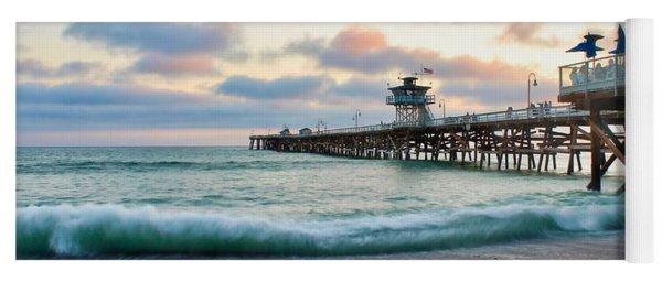 A San Clemente Pier Evening Yoga Mat