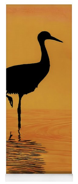 Sandhill - Crane - Sunset Yoga Mat