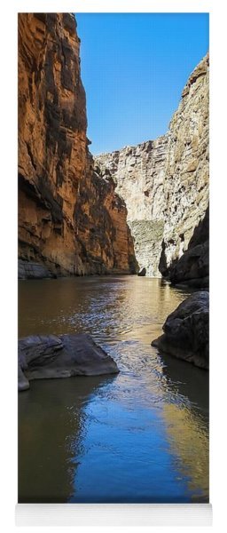 Santa Elena Canyon And Rio Grande River Yoga Mat