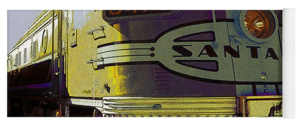 Santa Fe Railroad 347c - Digital Artwork Yoga Mat