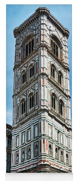 Santa Maria Del Fiore Cathedral Doorway And Bell Tower Yoga Mat