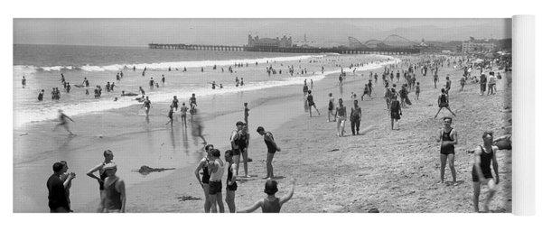 Santa Monica Beach Circa 1920 Yoga Mat