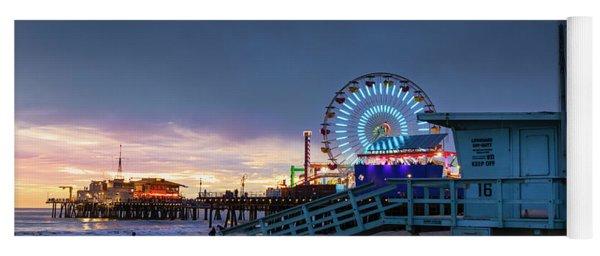 Santa Monica Lifeguard Tower 16 Yoga Mat