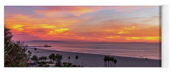 Santa Monica Pier Sunset - 11.1.18  Yoga Mat