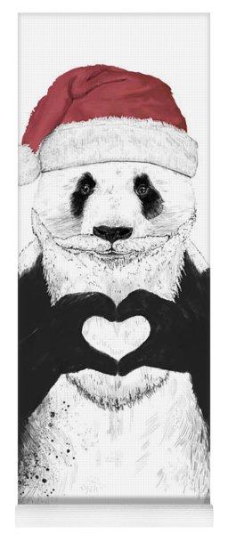 Santa Panda Yoga Mat