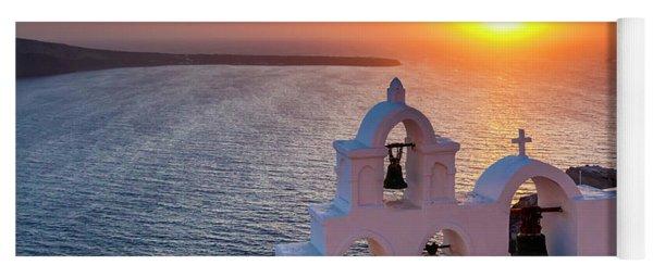Santorini Sunset Yoga Mat