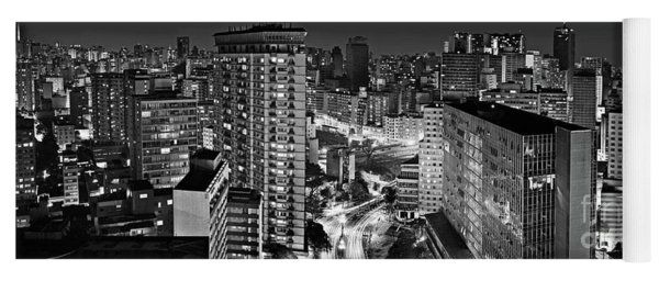 Sao Paulo Downtown By Night Yoga Mat