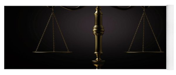 Scales Of Justice Dramatic Yoga Mat