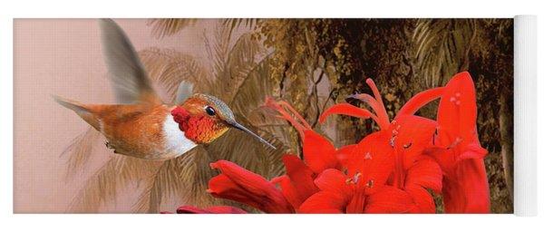 Scarlet Sage And Hummingbird Yoga Mat