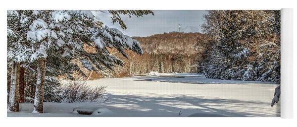 Scenic Moose River Yoga Mat