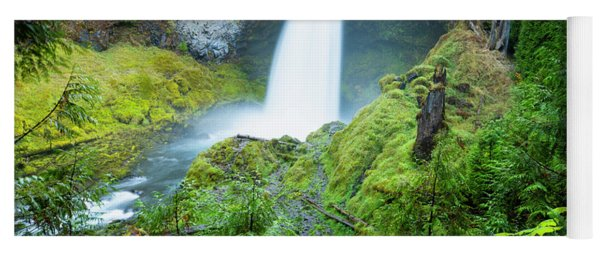 Scenic View Of Waterfall, Portland Yoga Mat