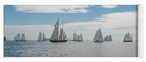 Yoga Mat featuring the photograph Schooners On The Chesapeake Bay by Mark Duehmig