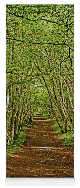 Scotland. Killiecrankie. Path Through The Trees. Yoga Mat