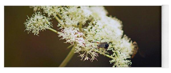 Scotland. Loch Rannoch. White Flowerhead. Yoga Mat