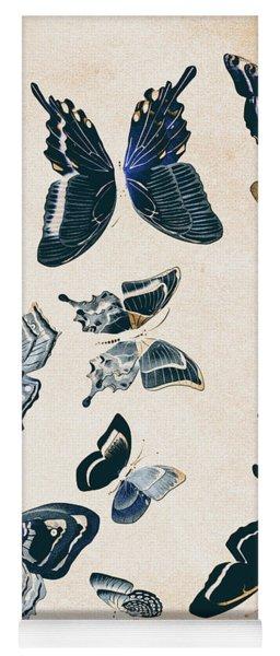 Scrapbook Butterflies Yoga Mat