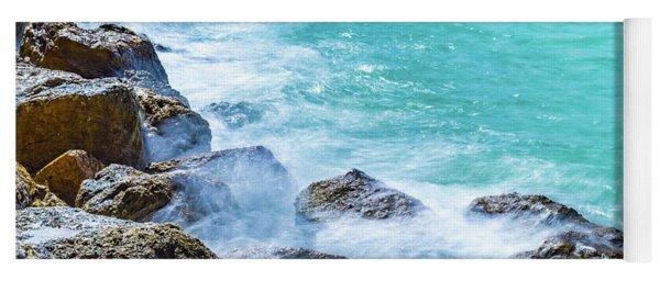 Sea Rocks In Montego Bay Yoga Mat