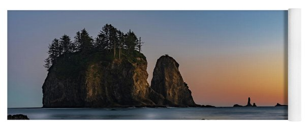 Yoga Mat featuring the photograph Sea Stacks At La Push by Ed Clark