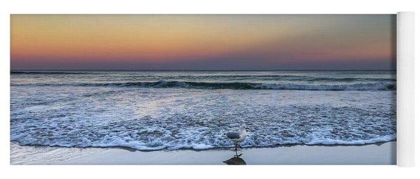 Seagull On The Beach Yoga Mat